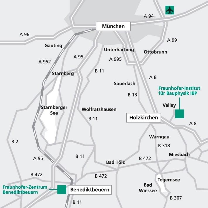 Anfahrt Kloster Benediktbeuern