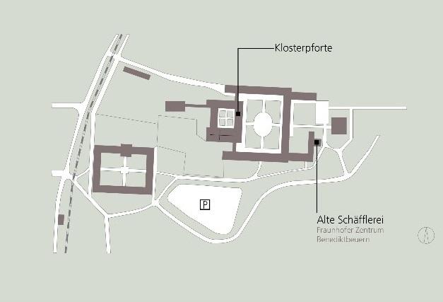 Lageplan Kloster Benediktbeuern